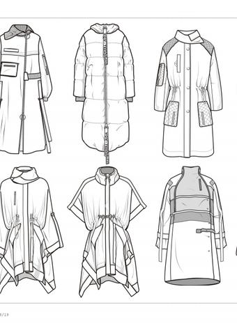 大衣棉服趋势 - 矢量图   集合所有wow-trend热点企划手稿,包含少女